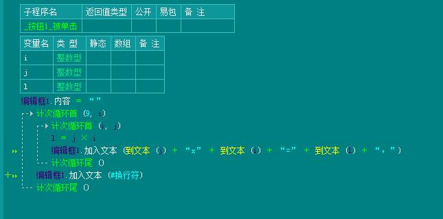 易语言计次循环首内计次循环源码实例